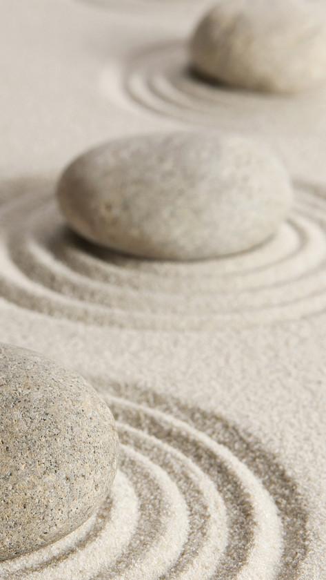 Zen Stones on Sand
