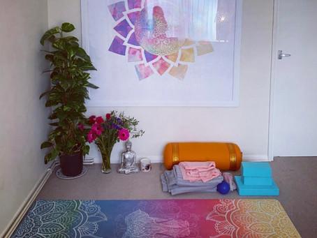 My designated home yoga space