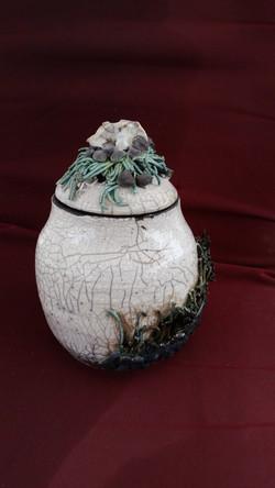 Porcelain Raku Canister (C)