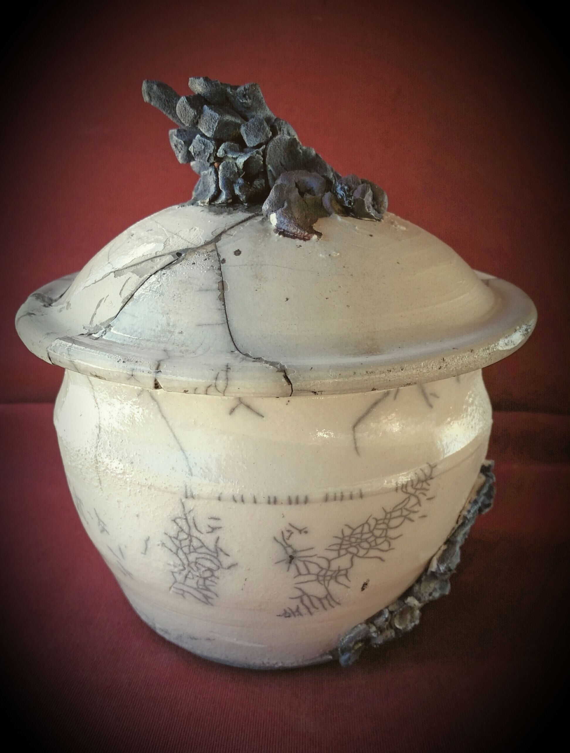 Porcelain Raku Canister (A)