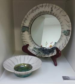 Porcelain Hanging Mirror Frame