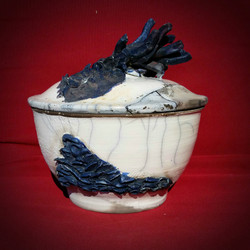 Porcelain Raku Canister (B)