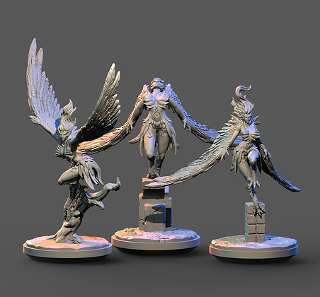 Harpies from Clay Cyanide miniatures