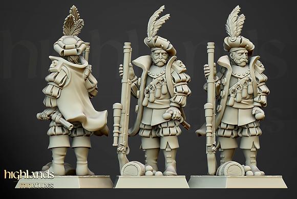 Otto von Schrute, Sunland Imperial Huntsman from Highlands Miniatures