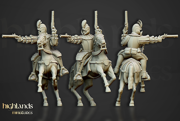 The Sunland Imperial Black Riders from Highlands Miniatures