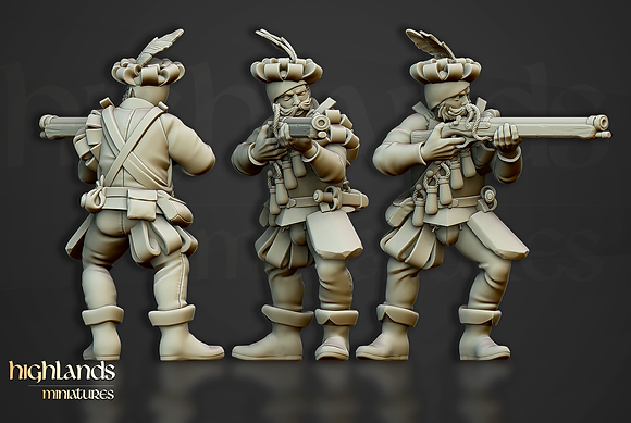 Sunland Imperial Arquebusiers from Highlands miniatures