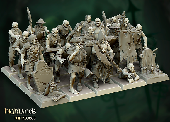 Zombie Horde by Highlands Miniatures