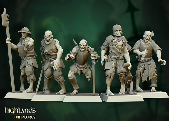 Zombie Warriors from Highlands Miniatures