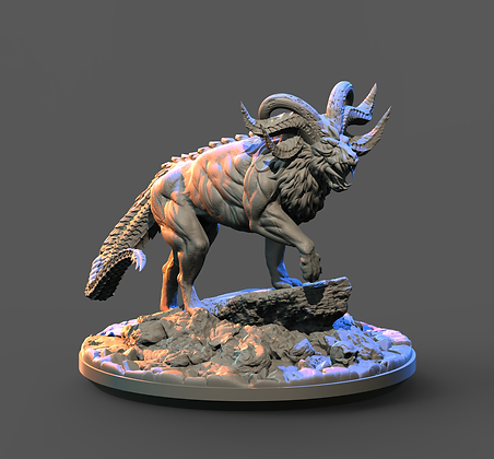 NIght Monster Variant 1 from Clay Cyanide miniatures