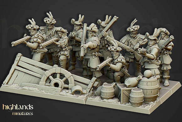 Sunland Imperial Arquebusier unit from Highlands Miniatures