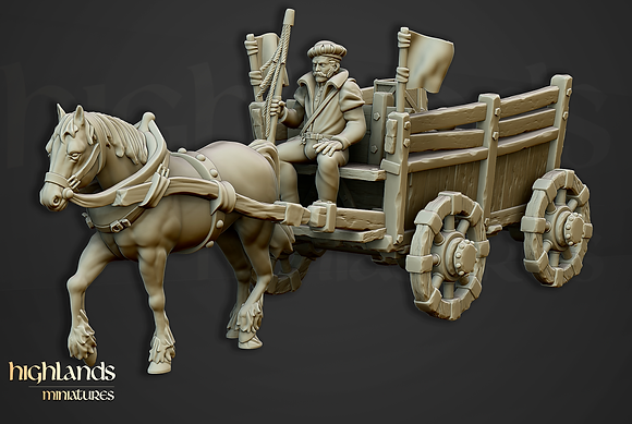 Sunland Imperial Gold Wagon from Highlands miniatures