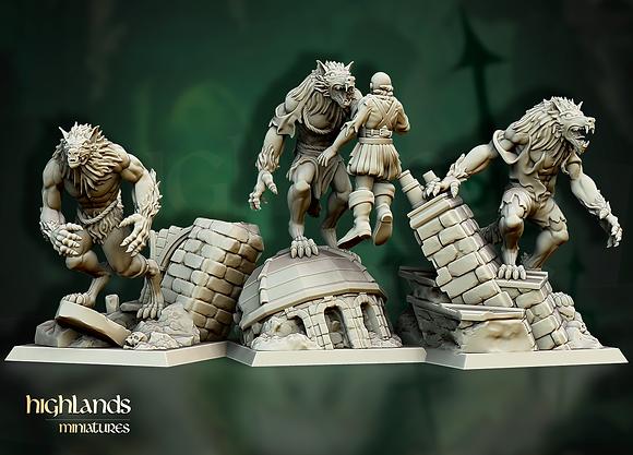 Werewolves from Highland Miniatures