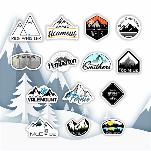 Sled Town Stickers