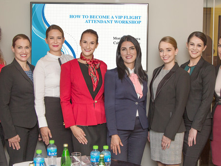 How to become a VIP Flight Attendant workshop in Dubai I / November 2018