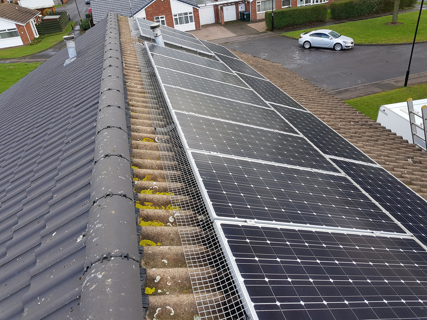 solar panel proofing birds nesting