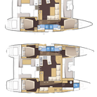 Lagoon-450-F- 3Cabin-Plans