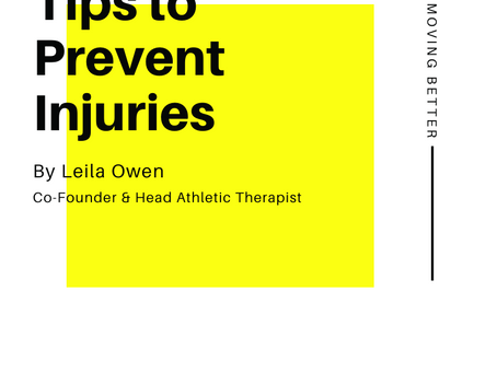 Tips to Help Prevent Injuries