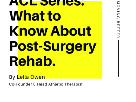 ACL Series: What to Know About Post-Surgery Rehab.