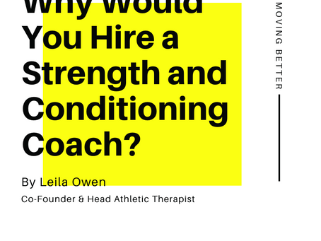 Why Would You Hire a Strength and Conditioning Coach?