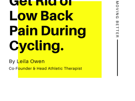 Get Rid of Low Back Pain During Cycling
