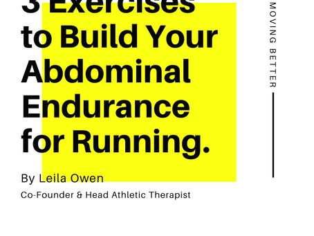 3 Exercises to Build Your Abdominal Endurance for Running