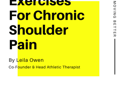 Exercises For Chronic Shoulder Pain