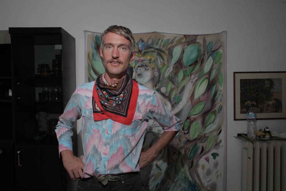Artist Ryan Spring Dooley w Work