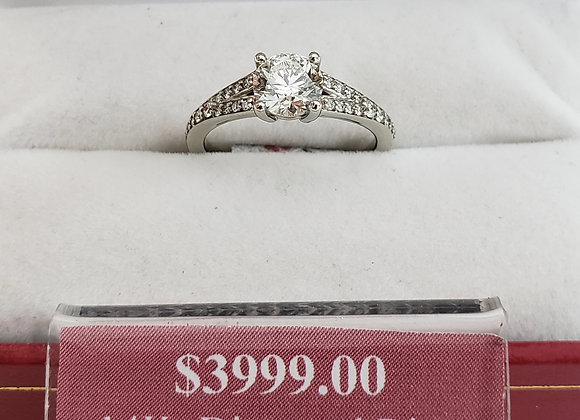 14kt Accented Diamond Ring 1.03ct