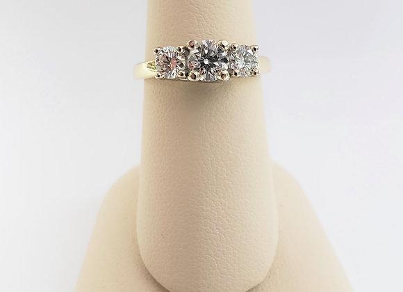 14kt Canadian Diamond Trinity Ring 1.01ct