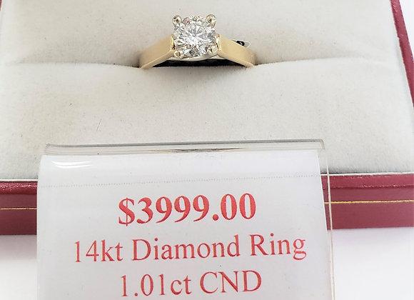 14kt Canadian Diamond Ring 1.01ct
