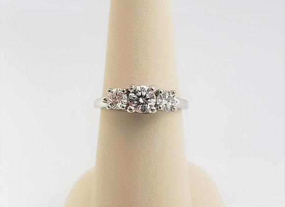 14kt Canadian Diamond Trinity Ring 1.02ct