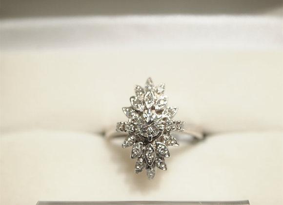 14kt Vintage Diamond Cluster Ring