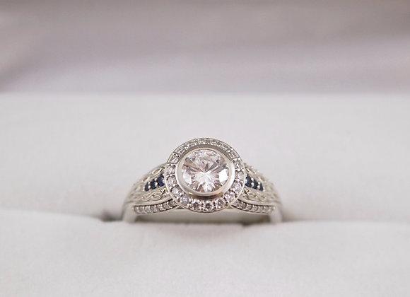 14kt Diamond & Sapphire Ring