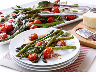 Roasted Asparagus & Tomato Salad