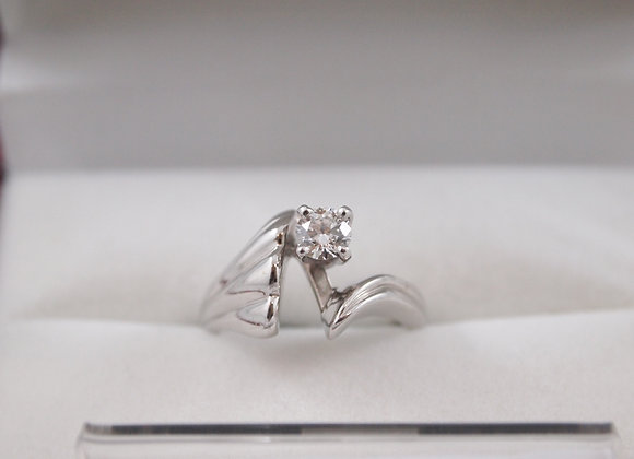 14kt Solitaire Engagement Diamond Ring