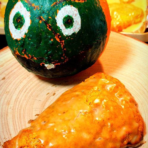 Maple Glazed Pumpkin Scones