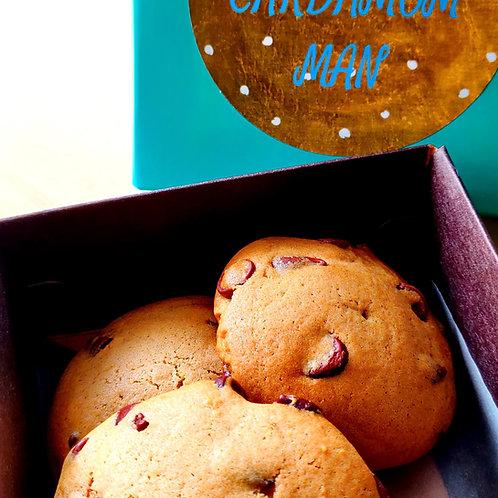 Cardamom Baked Chocolate Chip Cookies