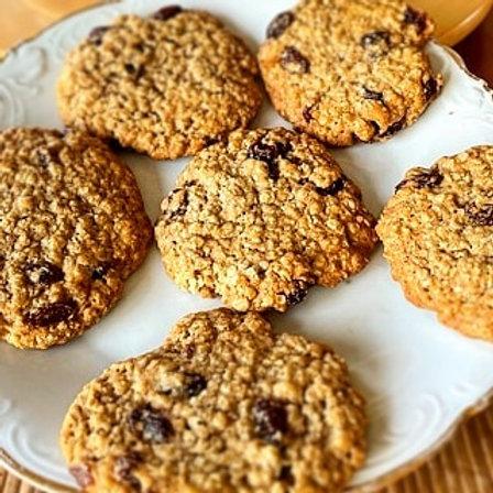 Cardamom Baked Oatmeal Raisin Cookies
