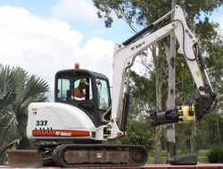 5T excavator with rotating grab