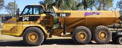 Cat 730 articulated dump truck