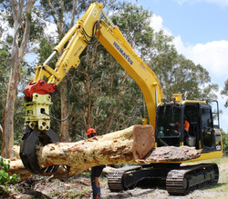 13T excavator with rotating grab