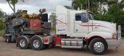 Kenworth T401 prime mover & Redback Viper grinder