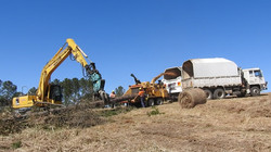 """Mulching pine trees with 21"""" wood chipper"""
