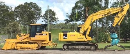 20T excavator and drott