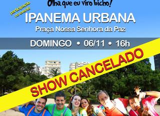 Evento em Ipanema cancelado