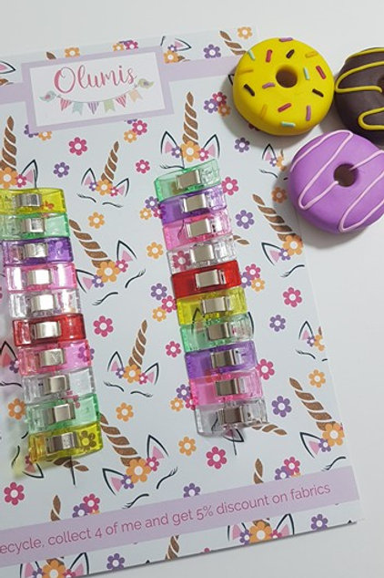 Small sewing clips