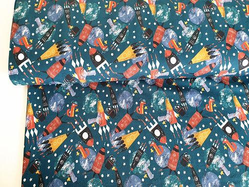 Funky cat fox rockets (dark green)