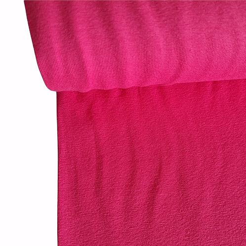Cerise pink plain jersey