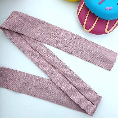 Jersey Folded Bias Binding - Old Pink