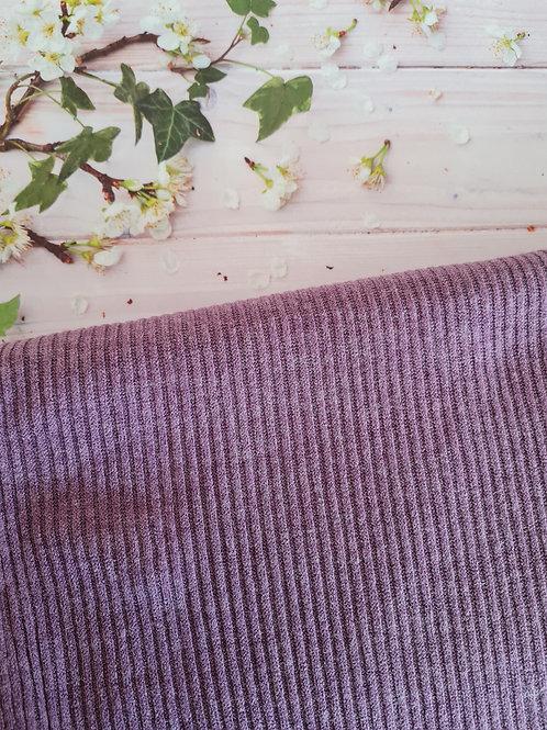 Ribbed knit purple jersey
